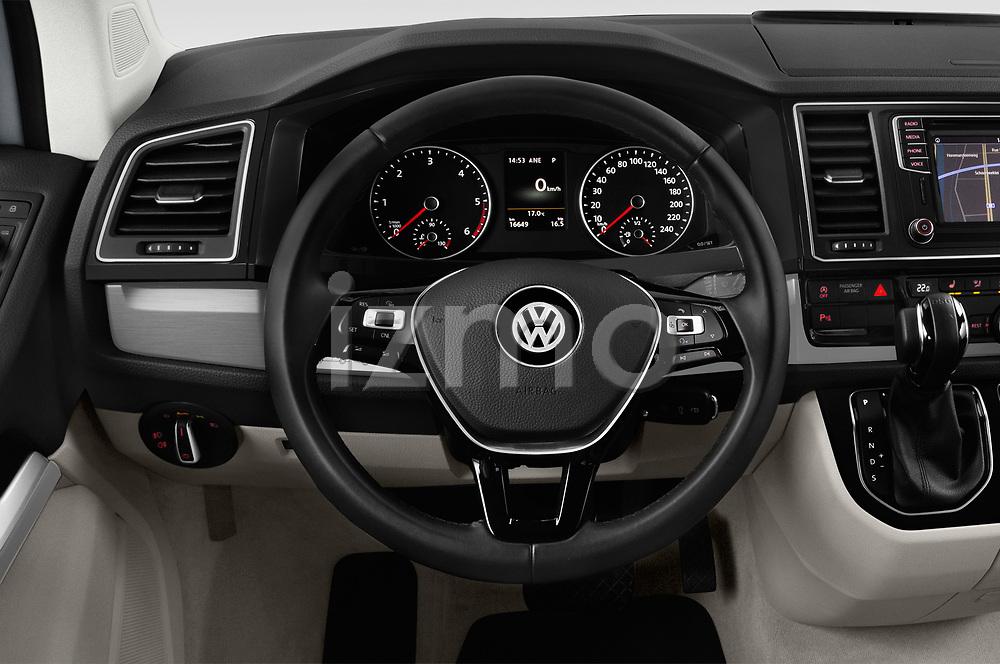 Car pictures of steering wheel view of a 2018 Volkswagen California Ocean 4 Door Passenger Van