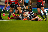 21st August 2020; Kingsholm Stadium, Gloucester, Gloucestershire, England; English Premiership Rugby, Gloucester versus Bristol Bears; Semi Radradra of Bristol celebrates scoring a try in the 30th minute for 24-7