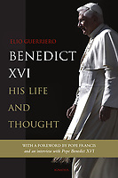 """Ignatius Press USA Edition. The Biography Pope Benedict XVI. 2018<br /> Photograph by Stefano Spaziani.<br /> <br /> Benedict XVI: His Life and Thought.<br /> In these pages Benedict XVI shares his reasons for retiring from the papacy in 2013 in an interview with the author.<br /> <br /> This extensive biography of my predecessor Benedict XVI is welcome: it offers a comprehensive, reliable, and balanced account of his life and of the development of his thought. All of us in the Church owe a great debt of gratitude to Joseph Ratzinger/Benedict XVI for the depth and balance of his theological thought, which he has always lived out in service to the Church up to the highest positions of responsibility."""""""