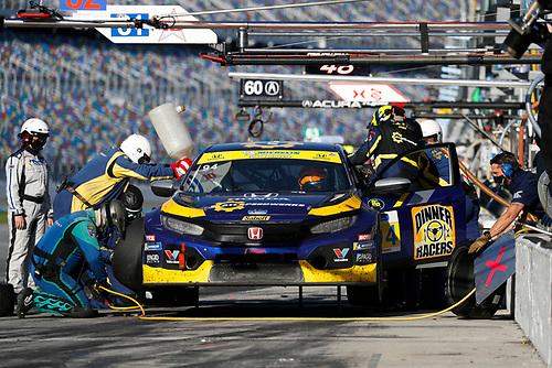 #94 Atlanta Speedwerks Honda Civic FK7 TCR, TCR: Pit Stop, Todd Lamb, Greg Strelzoff, Ryan Eversley