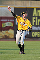 Bowling Green Hot Rods outfielder Dustin Biell during a game vs. the Lake County Captains at Classic Park in Eastlake, Ohio;  August 20, 2010.   Lake County defeated Bowling Green 5-3.  Photo By Mike Janes/Four Seam Images