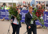 Pictured: Flower arrangements are being carried over to one of the venues Hillary Clinton will be visiting at Swansea University Bay Campus. Saturday 14 October 2017<br /> Re: Hillary Clinton, the former US secretary of state and 2016 American presidential candidate will be presented with an honorary doctorate during a ceremony at Swansea University's Bay Campus in Wales, UK, to recognise her commitment to promoting the rights of families and children around the world.<br /> Mrs Clinton's great grandparents were from south Wales.