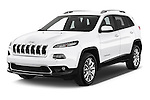 2015 Jeep Cherokee Limited 5 Door SUV angular front stock photos of front three quarter view