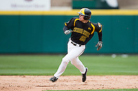 Taylor Doggett #21 of the Wichita State Shockers rounds second base during a game against the Missouri State Bears at Hammons Field on May 4, 2013 in Springfield, Missouri. (David Welker/Four Seam Images)