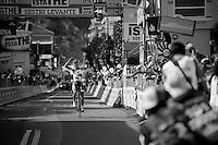 Giro d'Italia stage 12..Lars Bak winning the stage.