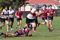Cody Lokotui of Scots College runs with the ball during the College 1st XV Rugby - Scots College v Kings College at Scots College, Wellington, New Zealand on Saturday 8 May 2021.<br /> Copyright photo: Masanori Udagawa /  www.photosport.nz