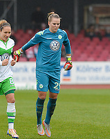 20151213 - KOELN , GERMANY : Wolfsburg 's Merle Frohms pictured during the female soccer match between 1.FC Koln and 1. VFL Wolfsburg , on the 11th day of the German Bundesliga season 2015-2016 in sudstadion in Koln. Sunday 13 December 2015 . PHOTO DAVID CATRY
