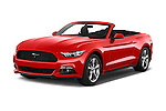 2017 Ford Mustang V6 2 Door Convertible Angular Front stock photos of front three quarter view