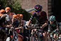 Hannah Ludwig (DEU/Canyon Sram Racing) up the infamous Mur de Huy.<br /> <br /> 22nd la Flèche Wallonne Féminin 2019 (1.WWT)<br /> 1 Day Race: Huy – Huy 118,5km<br /> women's elite race<br /> <br /> ©kramon