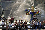 Europe, FRA, France, Paris, Fontain at the Centre Beauburg - ( Centre Pompidou ), Tourists....[ For each utilisation of my images my General Terms and Conditions are mandatory. Usage only against use message and proof. Download of my General Terms and Conditions under http://www.image-box.com or ask for sending. A clearance before usage is necessary...Material is subject to royalties. Each utilisation of my images is subject to a fee in accordance to the present valid MFM-List...Contact | archive@image-box.com | www.image-box.com ]