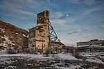 Old Giant Mine headframe Mining