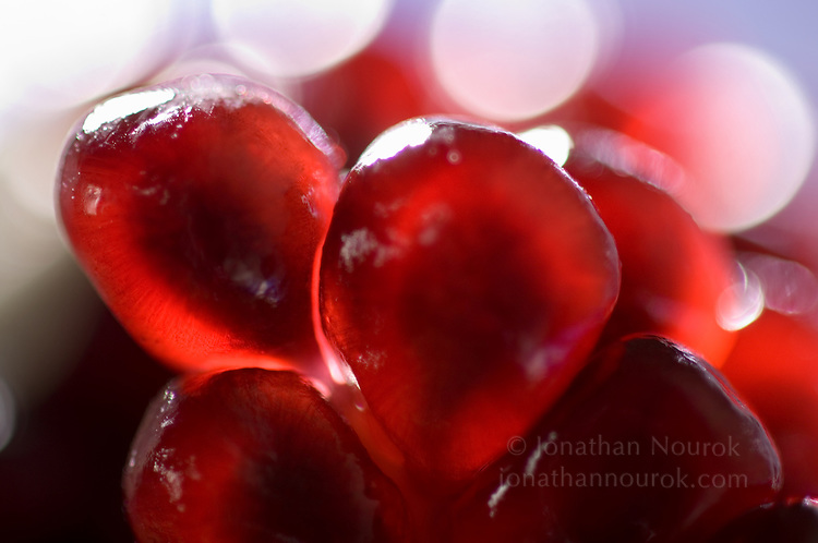 close-up of Pomegranate seeds  - commercial/editorial licensing for this image is available through: http://www.gettyimages.com/detail/200372107-001/Photographers-Choice