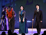 Phillip Boykin, Ruthie Ann Miles and David Turner during the opening night performance curtain call bows for 'Sunday in the Park with George' at the Hudson Theatre on February 23, 2017 in New York City.