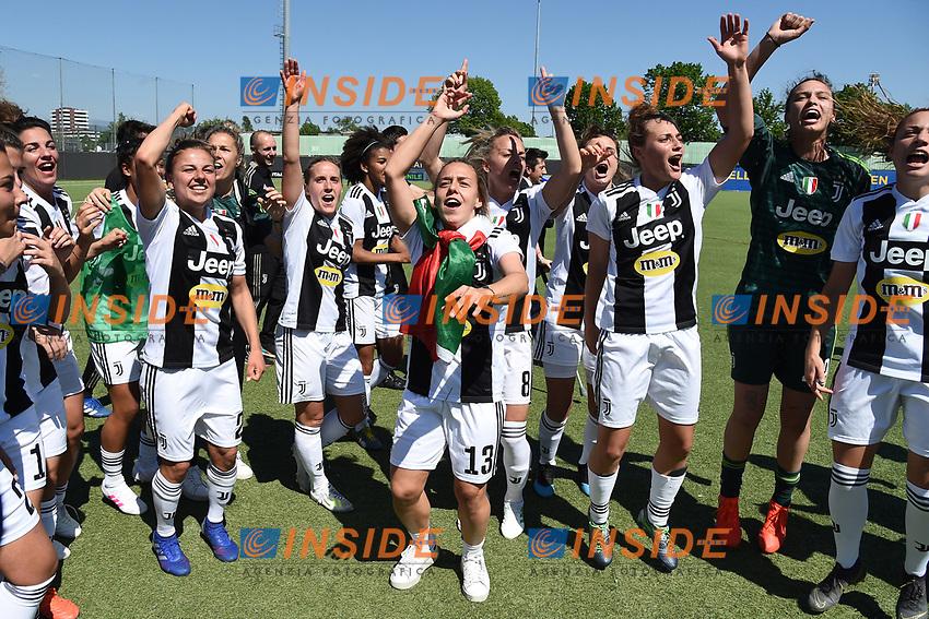 Juventus players .  Celebration at the end of the match <br /> Verona 20-4-2019 Stadio AGSM Olivieri <br /> Football Women Serie A Hellas Verona - Juventus <br /> Juventus win italian championship <br /> Photo Daniele Buffa / Image Sport / Insidefoto