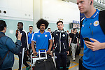 Leicester City Players arrive at the Hong Kong International Airport for the HKFC Citi Soccer Sevens on 18 May 2016 in Hong Kong, China. Photo by Panda Man / Power Sport Images