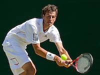 22-06-10, Tennis, England, Wimbledon, Robin Haase door naar de tweede ronde