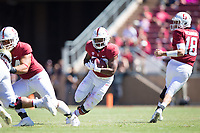 STANFORD, CA - September 15, 2018: Dorian Maddox at Stanford Stadium. The Stanford Cardinal defeated UC Davis, 30-10.