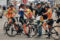 8th October 2021; AJ Bell Womens Cycling Tour, Stage 5, Colchester to Clacton on Sea.  Team Alé BTC Ljubljana at the finish.
