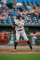 Clinton LumberKings Peyton Burdick (27) during a Midwest League game against the Great Lakes Loons on July 19, 2019 at Dow Diamond in Midland, Michigan.  Clinton defeated Great Lakes 3-2.  (Mike Janes/Four Seam Images)