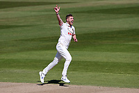 Jamie Porter of Essex appeals for a wicket during Warwickshire CCC vs Essex CCC, LV Insurance County Championship Group 1 Cricket at Edgbaston Stadium on 25th April 2021
