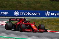 July 3rd 2021; F1 Grand Prix of Austria, qualifying sessions;   Formula 1 Austria Gran Prix 2021 Carlos Sainz Jr. of Scuderia Ferrari on track Red Bull Ring Austria