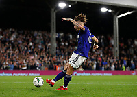 21st September 2021; Craven Cottage, Fulham, London, England; EFL Cup Football Fulham versus Leeds; Kalvin Phillips of Leeds United taking a penalty during the penalty shootout