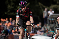Elena Cecchini (ITA/Canyon - Sram Racing) up the infamous Mur de Huy<br /> <br /> 22nd la Flèche Wallonne Féminin 2019 (1.WWT)<br /> 1 Day Race: Huy – Huy 118,5km<br /> women's elite race<br /> <br /> ©kramon