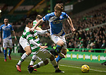 Celtic v St Johnstone…25.01.17     SPFL    Celtic Park<br />Liam Craig skips a tackle by Cristian Gamboa<br />Picture by Graeme Hart.<br />Copyright Perthshire Picture Agency<br />Tel: 01738 623350  Mobile: 07990 594431