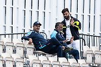 Rishabh Pant, India with Ravi Shastri, Head Coach, India during a training session ahead of the ICC World Test Championship Final at the Hampshire Bowl on 17th June 2021