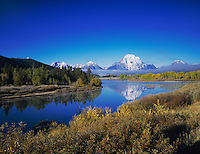 Oxbow Bend at sunrise, Grand Teton NP,Wyoming, September 2005