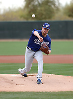 Brock Stewart - Los Angeles Dodgers 2018 spring training (Bill Mitchell)