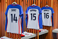 Vancouver, Canada - Thursday November 09, 2017: U.S. women's national team locker room during an International friendly match between the Women's National teams of the United States (USA) and Canada (CAN) at BC Place.