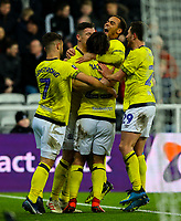Blackburn Rovers' Bradley Dack celebrates scoring the opening goal with teammates<br /> <br /> Photographer Alex Dodd/CameraSport<br /> <br /> Emirates FA Cup Third Round - Newcastle United v Blackburn Rovers - Saturday 5th January 2019 - St James' Park - Newcastle<br />  <br /> World Copyright © 2019 CameraSport. All rights reserved. 43 Linden Ave. Countesthorpe. Leicester. England. LE8 5PG - Tel: +44 (0) 116 277 4147 - admin@camerasport.com - www.camerasport.com