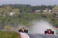 9th October 2021; Formula 1 Turkish Grand Prix 2021 Qualifying sessions at the Istanbul Park Circuit, Istanbul;    3 Daniel Ricciardo AUS, McLaren F1 Team, 55 CarlSainz ESP, Scuderia Ferrari Mission Winnow  rain plume