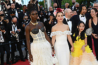 CANNES, FRANCE. July 8, 2021: Jodie Turner-Smith, Haley Lu Richardson & Malea Emma Tjandrawidjaja at the Stillwater Premiere at the 74th Festival de Cannes.<br /> Picture: Paul Smith / Featureflash