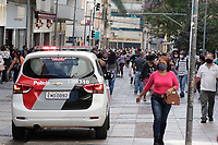 Campinas (SP), 09/06/2020 - Movimentação de Policia Militar e Guarda Municipal na rua 13 de maio, no centro de Campinas, interior de São Paulo, na tarde desta terça-feira (9) com abertura parcial do comércio.