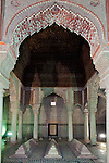 Morocco, Marrakech: Saadian Tombs, burial chamber of the Saadian family, built in late 16th century | Marokko, Marrakesch: Saadien Graeber, Grabkammer der Familie Saadian erbaut im spaeten 16. Jahrhundert