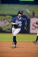 Corpus Christi Hooks infielder Anibal Sierra (10) rounds second base Wednesday, May 1, 2019, at Arvest Ballpark in Springdale, Arkansas. (Jason Ivester/Four Seam Images)