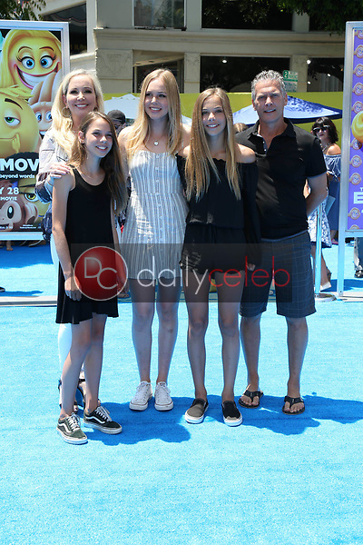 "Adeline Beador, David Beador, Shannon Beador, Sophie Beador, Stella Beador<br /> at the premiere of ""The Emoji Movie,"" Village Theater, Westwood, CA 07-23-17<br /> David Edwards/DailyCeleb.com 818-249-4998"