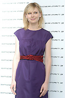 "KIRSTEN DUNST .Photocall for ""Spider-Man 3"" held at the Hotel Excelsior, Rome, Italy..April 24th, 2007.half length purple sleeveless dress red belt.CAP/CAV.©Luca Cavallari/Capital Pictures"