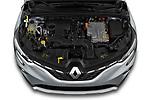 Car Stock 2021 Renault Captur Intense 5 Door SUV Engine  high angle detail view