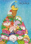 Interlitho, Soledad, CHRISTMAS CHILDREN, naive, paintings, kids, moon(KL2139/2,#XK#) Weihnachten, Navidad, illustrations, pinturas