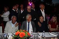CHARLES GERARD , JEAN PAUL BELMONDO , ROBERT HOSSEIN , ACARIES - GARDEN PARTY AU CHATEAU DE LA BUZINE A MARSEILLE - FRANCE , LE 30/06/2017