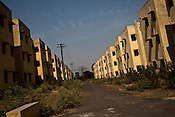 The newly constructed rehabilitation colony in Belgharia, outskirts of Dhanbad, Jharkhand, India. Residents living in Bokapahari will be relocated to these small apartments. Photo: Sanjit Das