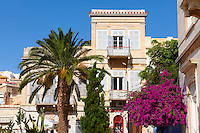 Neo Classic buildings of Ermoupolis, Miaoulis Square, Syros [ ????? ] , Greek Cyclades Islands