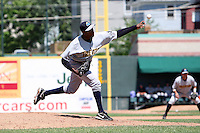Trenton Thunder Relief Pitcher Wilkins Arias (31) during a game vs. the Erie Seawolves at Jerry Uht Park in Erie, Pennsylvania;  June 24, 2010.   Trenton defeated Erie 11-2.  Photo By Mike Janes/Four Seam Images