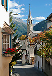 Schweiz, Graubuenden, Unterengadin, Bergdorf Sent | Switzerland, Graubuenden, Lower Engadin, mountain village Sent