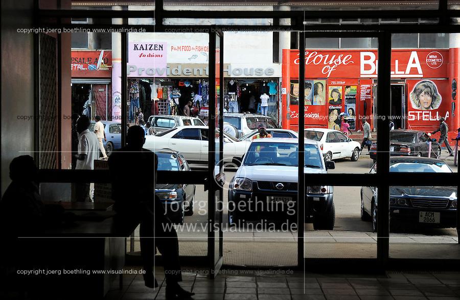 ZAMBIA copperbelt town Kitwe , downtown/ SAMBIA Kitwe im copperbelt, Zentrum