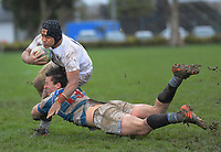 Action from the traditional 1st XV rugby match between Palmerston North Boys' High School and St Patrick's College Silverstream at CET Arena in Palmerston North, New Zealand on Wednesday, 2 September 2020. Photo: Dave Lintott / lintottphoto.co.nz