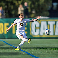 24 September 2016: University of Vermont Catamount Defender Loftur Eriksson, a Graduate from Saudarkrokur, Iceland, in action against the Dartmouth College Big Green at Virtue Field in Burlington, Vermont. The teams played to an overtime 1-1 tie in front of an Alumni Weekend crowd of 1,710 fans. Mandatory Credit: Ed Wolfstein Photo *** RAW (NEF) Image File Available ***